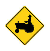 Road sign - tractor — Stock Photo