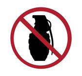 Sign - no grenades — Stock Photo