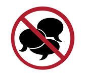 Sign - no talking — Stock Photo