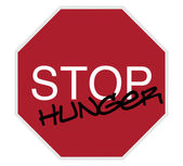 Stop sign - stop hunger — Stock Photo