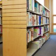 Library shelf - Stock Photo