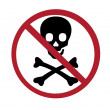Royalty-Free Stock Photo: Sign - no skull and bones