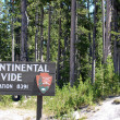 Continental divide sign - Stock Photo