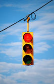 Stoplight on red — Stock Photo