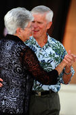 Senior couple dancing — Stock Photo