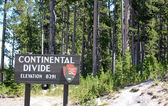 Continental divide sign — Stock Photo