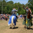 Jousting demonstration - Stock Photo