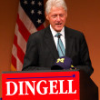 Former President Bill Clinton at Dingell rally — Foto de Stock