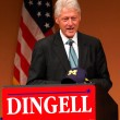 Former President Bill Clinton at Dingell rally — Stockfoto