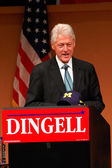 Former President Bill Clinton at Dingell rally — Stock Photo