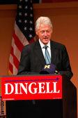 Eski başkan bill clinton dingell mitingde — Stok fotoğraf
