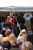 USMB clarinetist at Picnic Pops — Stock Photo