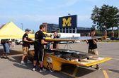 Western Michigan University's solar car — Stock Photo