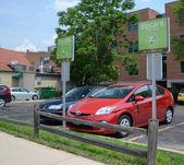 Zipcar lot in Ann Arbor — Stock Photo
