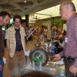 Demonstration of ancient steam turbine at Ann Arbor Mini Maker — Stock Photo