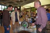 Demonstração da turbina de vapor antiga em ann arbor mini fabricante — Fotografia Stock