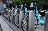 Divvy bike rental station in Chicago — Stock Photo