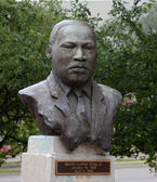 Martin Luther King sculpture, Eastern Michigan University — Stock Photo