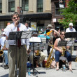 Stock Photo: John Vishneski sings with Chicago Barrister's Band