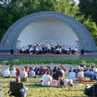 Ann Arbor Civic Band performs at West Park — Stock Photo