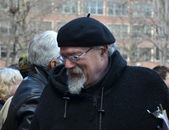 John Sinclair at Ann Arbor Hash Bash 2014 — Stock Photo