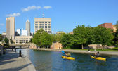 Kayakers in Indianapolis Central Canal  — Stock Photo