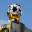 Fire and Rescue mascot at the Ypsilanti, MI 4th of July parade — Stock Photo