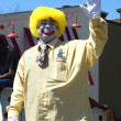 Ragtyme Clown at the Ypsilanti, MI 4th of July parade — Stock Photo