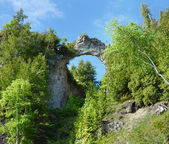 Arch Rock from the road, Mackinac Island — Stock Photo