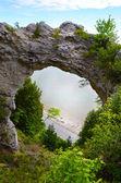 Arch Rock close-up, Mackinac Island — Stock Photo