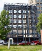 Reinforced building facade rin Detroit, MI — Stock Photo