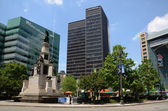 Campus Martius park in Detroit, MI — Stock Photo
