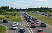 Highway traffic near Ann Arbor, MI — Stock Photo
