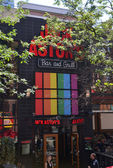Jack Astor's Bar and Grill shows gay pride support — Stock Photo
