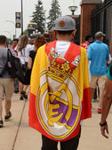 Real Madrid fan in Ann Arbor — Stock Photo