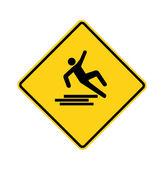 Road sign - slipping man — Stock Photo