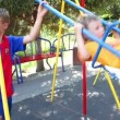 Kids play in park — Stock Video