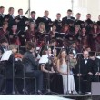 Stock Video: Choir singing orchestra