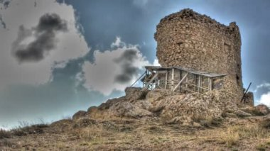 Castle ruins HDR — Stock Video