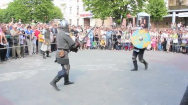 Festival. knightly battles — Stock Video