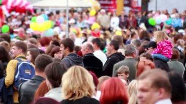 Folla di persone — Video Stock