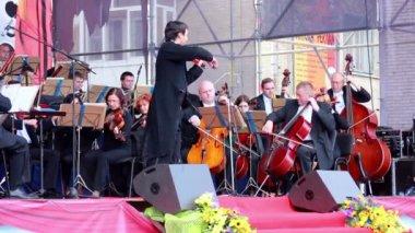 Lviv Symphony Orchestra — Stock Video