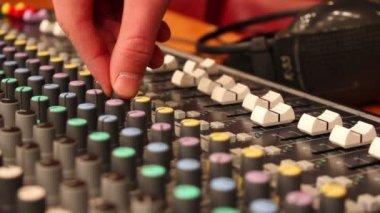 Digital Audio Mixing Console. — Stock Video