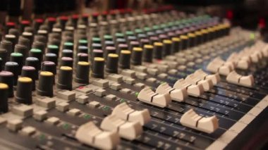 Digital Audio Mixing Console. — Stock Video