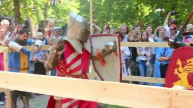 Knightly battles — Stock Video