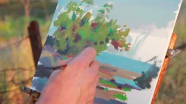 Painting picture — Stock Video