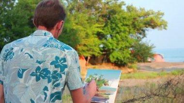 Malarstwo obrazek — Wideo stockowe