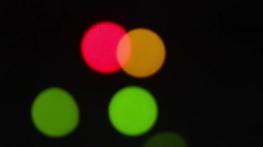Lumières colorées brouillées — Vidéo