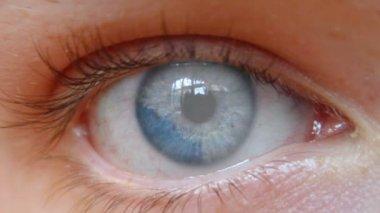 Mänskliga ögat — Stockvideo