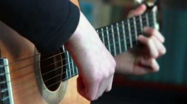 Acoustic guitar — Stock Video
